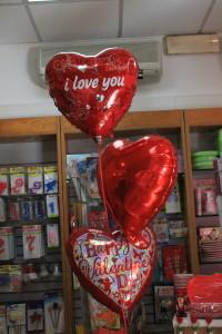 composizione palloncini cuore san valentino