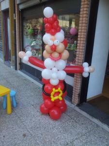 babbo natale di palloncini