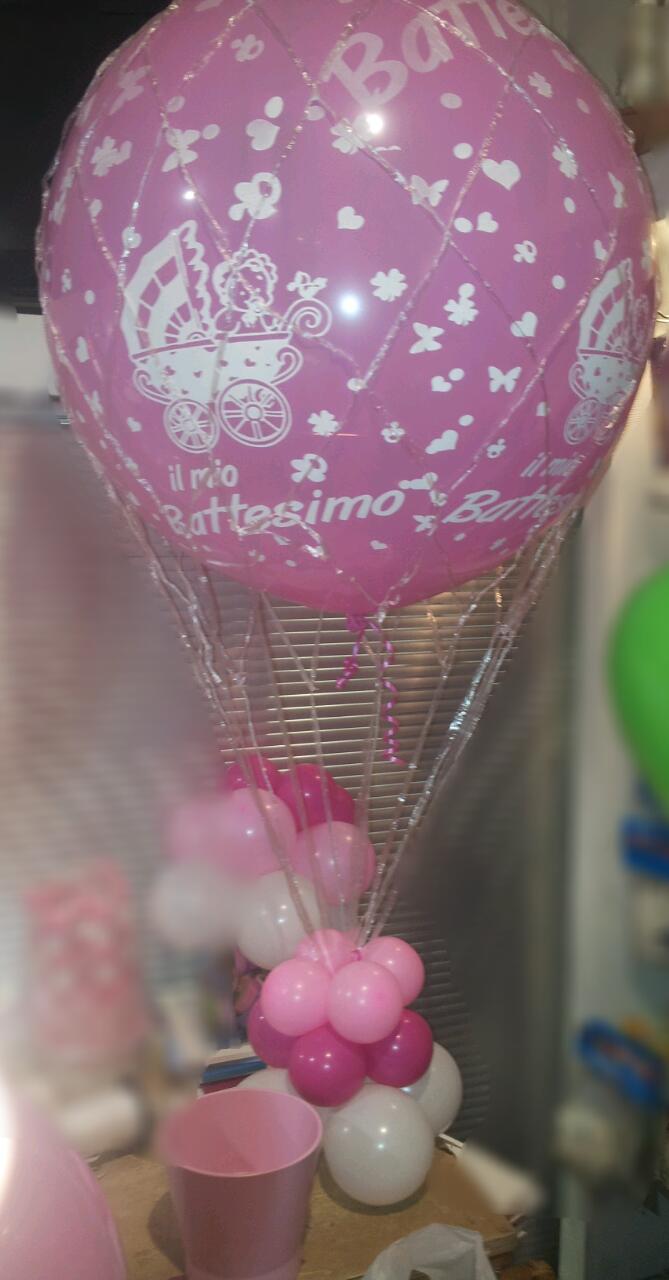 battesimo palloncini mongolfiera