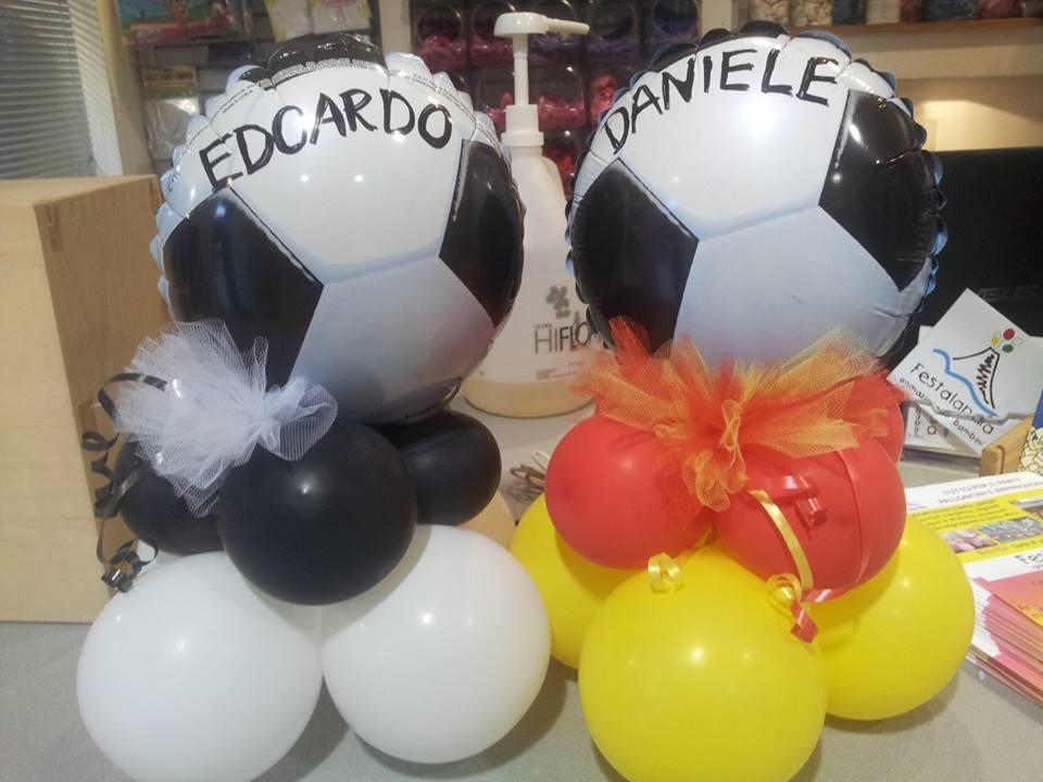 centrotavola palloncini calcio bambino
