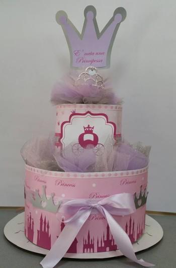 torta di pannolini principessa