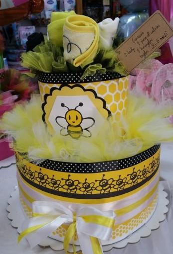 torta e bouquet ape