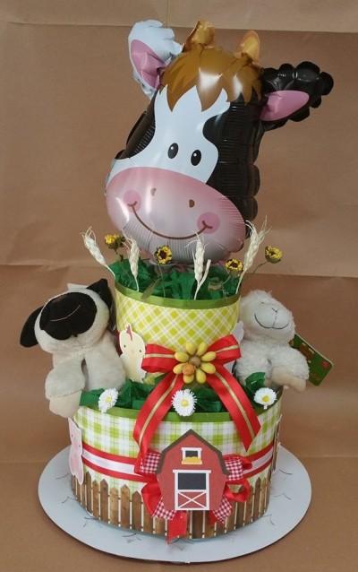 torta pannolini fattoria