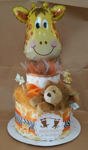torta pannolini giungla
