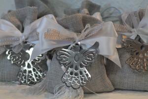 bomboniere comunione segnalibro angelo in metallo